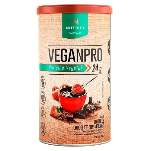 VeganPro fondue de chocolate com morango (550g) - Nutrify