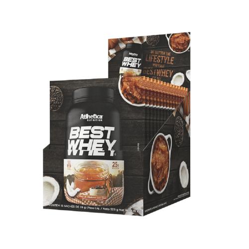 Best Whey Sabor Doce de abobora (caixa c/ 15 unidades de 35g) - Atlhetica Nutrition