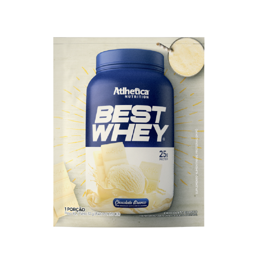 Best Whey Sabor Chocolate Branco (1 sachê de 35g )- Atlhetica Nutrition