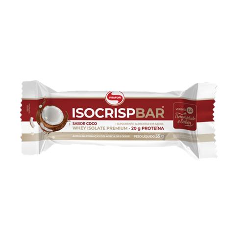 Isocrisp Bar Sabor Coco (1 Unidade de 55g) - Vitafor