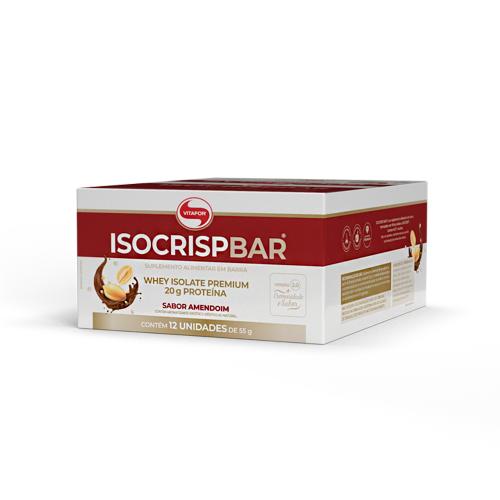 Isocrisp Bar Sabor Amedoim (1 Caixa c/ 12 unidades de 55g cada) - Vitafor