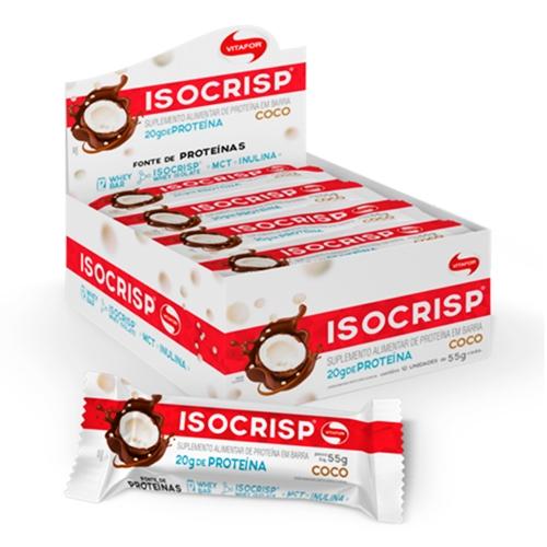 Isocrisp Bar Sabor Coco (1 Caixa c/ 12 unidades de 55g cada) - Vitafor