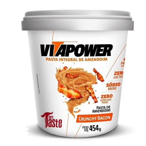 Pasta de Amendoim Integral Crunchy Bacon (454g) - VitaPower
