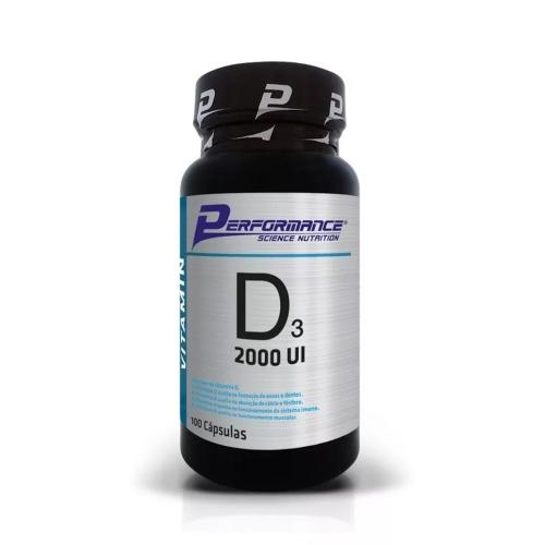 Vitamina D3 2000ui (100 Cápsulas) - Performance Nutrition