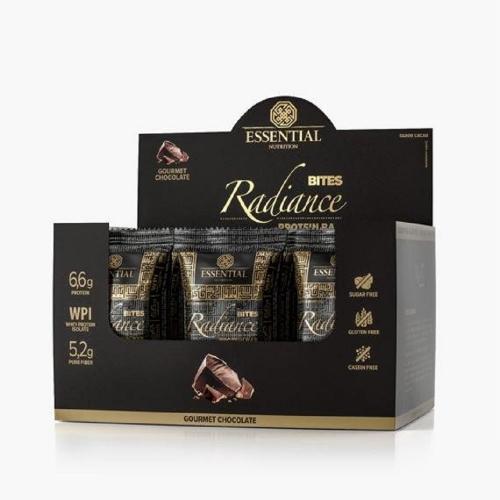 Radiance Bites Gourmet Chocolate (1 caixa c/ 15 unidades de 23g cada) - Essential Nutrtition