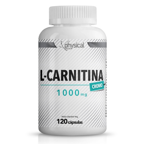 L-Carnitina c/ cromo 1000mg (120 Cápsulas) - Physical Pharma