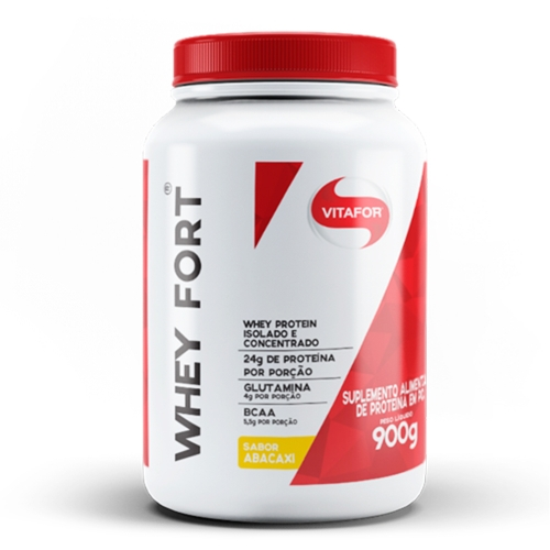 Whey Fort Sabor Abacaxi (900g) - Vitafor