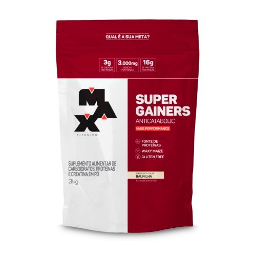 Super Gainers Anticatabolic Sabor Baunilha (3kg) - Max Titanium