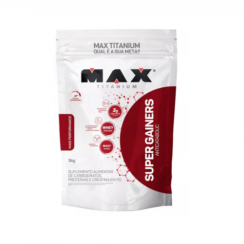 Super Gainers Anticatabolic 3kg Sabor Baunilha - Max Titanium