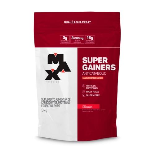 Super Gainers Anticatabolic Sabor Morango (3kg) - Max Titanium