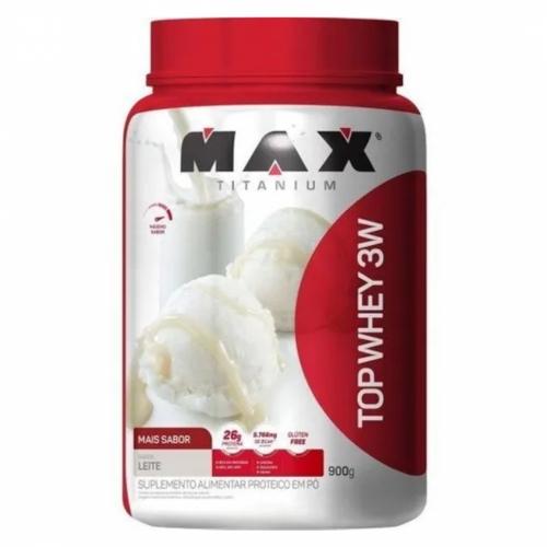 Top Whey 3W Mais Sabor Leite (900g) - Max Titanium