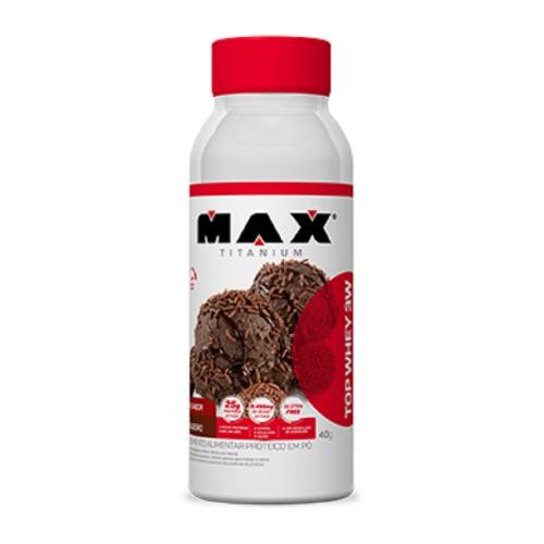 Top Whey 3W Mais Sabor Sorvete de frutas (Garrafa 40g) - Max Titanium