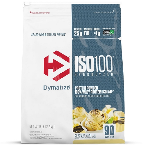 Iso 100 Natural Sabor Baunilha - (2,7kg Refil) - Dymatize