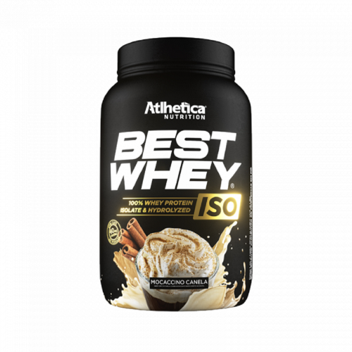 Best whey Iso 900g Sabor Mocaccino Canela - Atlhetica Nutrition