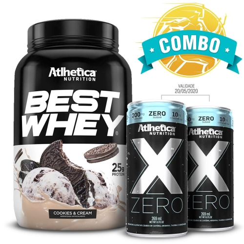 Best Whey (900g)  Sabor Abacaxi + 2 unidades  (269ml) - Atlhetica Nutrition