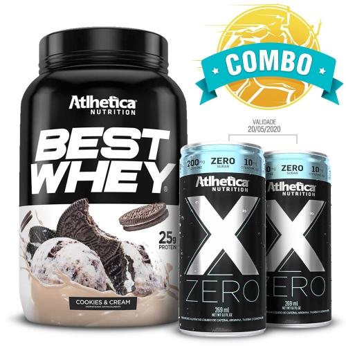 Best Whey (900g) Sabor Chocolate + 2 unidades X-zero (269ml) - Atlhetica Nutrition