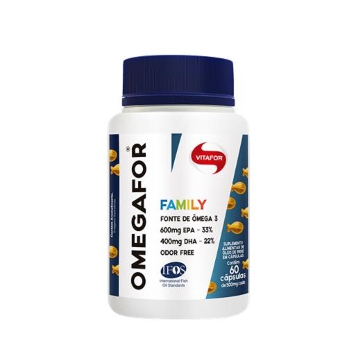Omegafor Family (60 Cápsulas de 500mg) - Vitafor