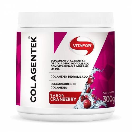 Colagentek Sabor Cranberry (Colágeno Hidrolisado)  (300g) - Vitafor