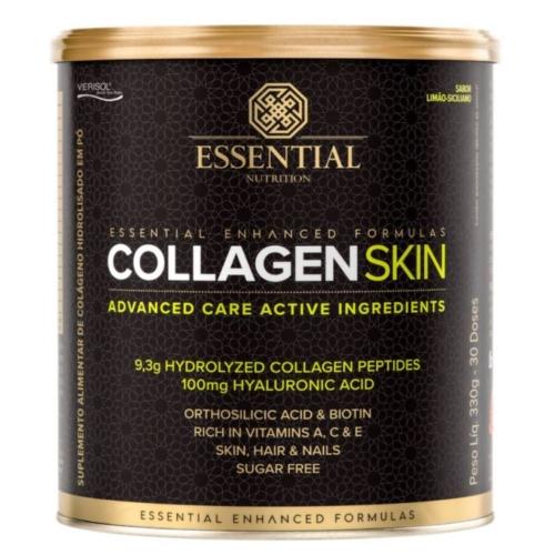 Collagen Skin - Colágeno Hidrolisado (330g) Limão Siciliano - Essential e Ganhe 1 Máscara