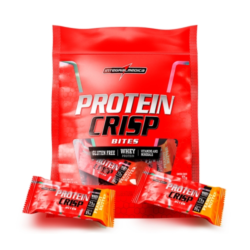 Protein Crisp Bites Sabor Pasta de Amendoim (375g) Refil - Integralmédica