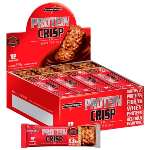 Protein Crisp Bar Sabor Churros com Doce de Leite (Cx c/ 12 Unidades de 45g) - Integralmédica