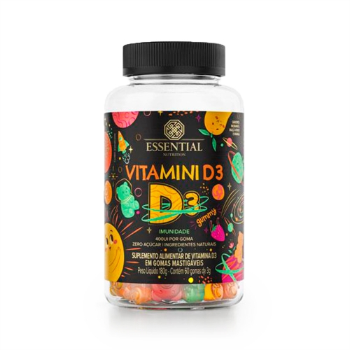 Vitamini D3 Gummy (60 Gomas) - Essential