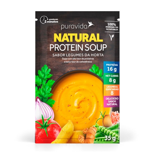 Natural Protein Soup - Legumes da Horta (1 unidade de 35g) - Pura Vida