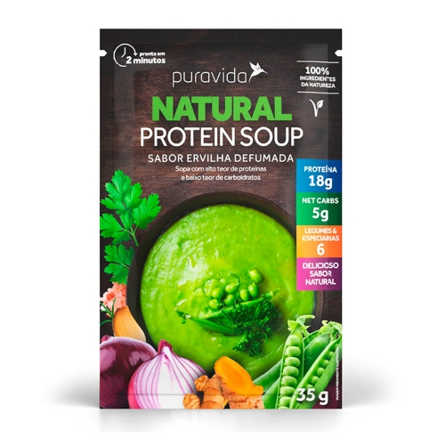 Natural Protein Soup - Ervilha Defumada (1 unidade de 35g) - Pura Vida