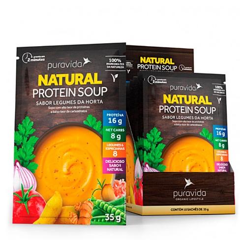 Natural Protein Soup - Legumes da Horta (1 cx com 10 saches de 35g) - Pura Vida