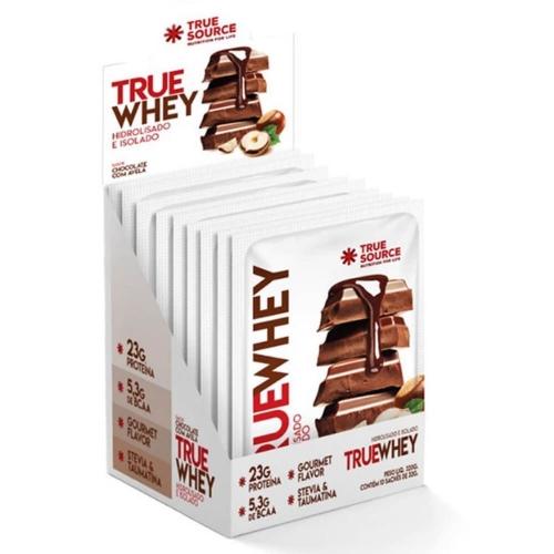 True Whey sabor Chocolate com Avelã (1 Cx. com 10 saches de 32g) - True Source