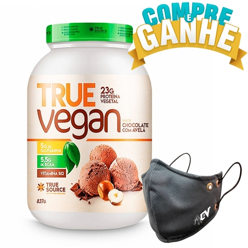 True Vegan sabor Chocolate c/ Avelã (837g) - True Source
