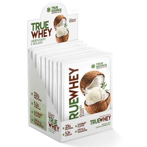 True Whey sabor Coconut Icecream (1 Cx. com 10 saches de 32g) - True Source