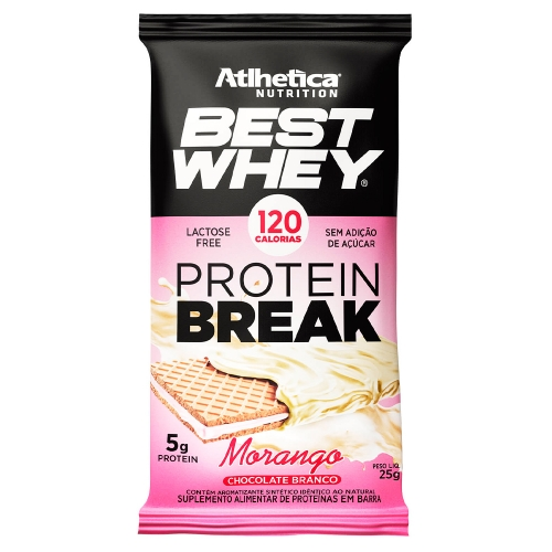 Best Whey Protein Break sabor Morango (1 unidade de 25g) - Atlhetica Nutrition