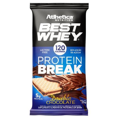 Best Whey Protein Break sabor Double Chocolate (1 unidade de 25g) - Atlhetica Nutrition