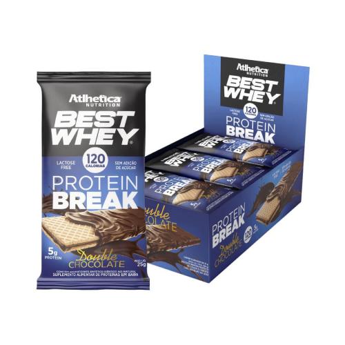 Best Whey Protein Break sabor Double Chocolate (Cx. 12 unidades de 25g) - Atlhetica Nutrition