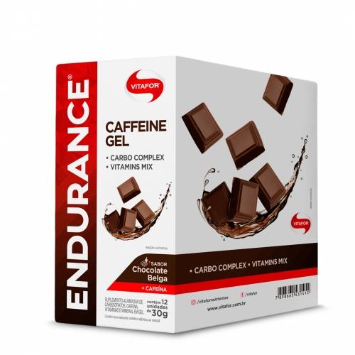 Endurance Caffeine Gel Sabor Chocolate Belga (Cx com 12 Sachês de 30g) - Vitafor