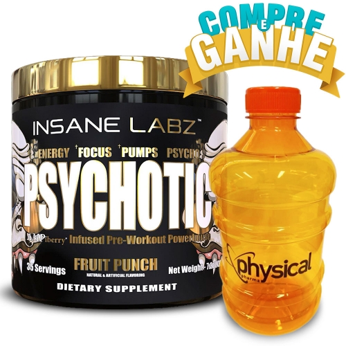 Compre Psychotic Gold sabor Fruit Punch (204g) - Insane Labz e Ganhe Galão (1,0L) - Physical Pharma