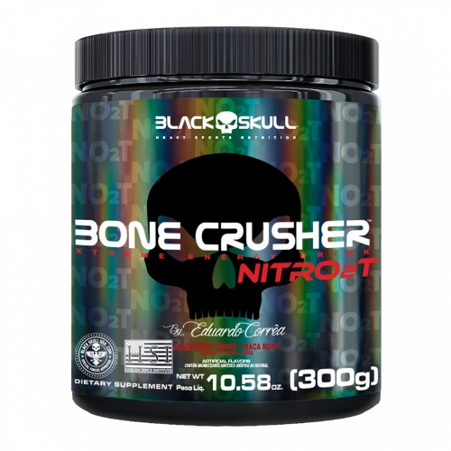 Bone Crusher Nitro 2T Sabor Black Berry (300g) - Black Skull