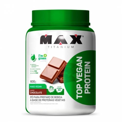 Top Vegan Protein Sabor Chocolate (600g) - Max Titanium