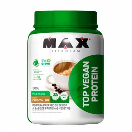 Top vegan Protein Sabor Café com Leite (600g) - Max Titanium