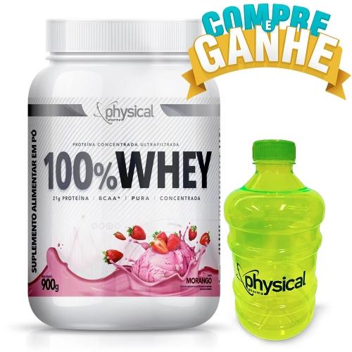 100% Whey Sabor Morango (900g) - Physical Pharma