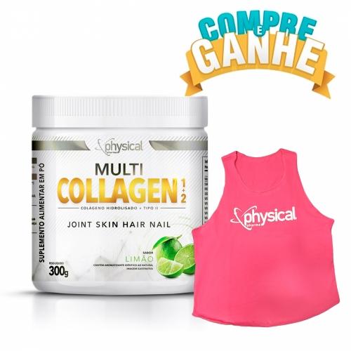Compre Multi Collagen 1+2 Sabor Limão (300g) - Physical Pharma e Ganhe Regata Feminina Rosa M - Physical Pharma