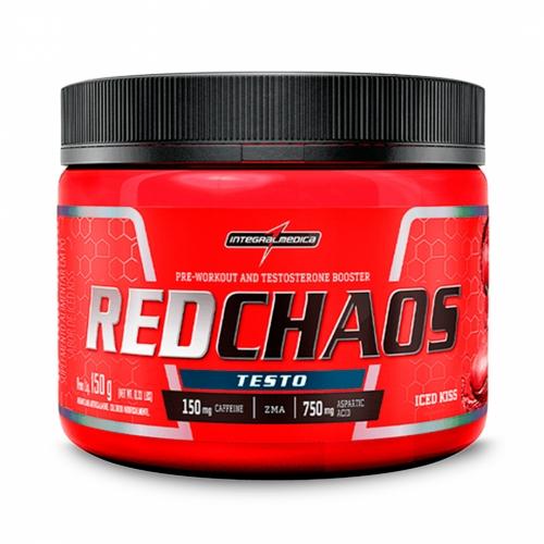 Red Chaos Testo Sabor Iced Kiss (150g) - Integralmédica