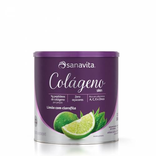 Colágeno Skin Sabor Limão com Clorofila (300g) - Sanavita
