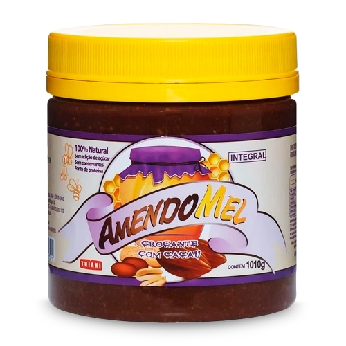 Pasta de Amendoim Integram Sabor Crocante com Cacau (1010g) - AmendoMel