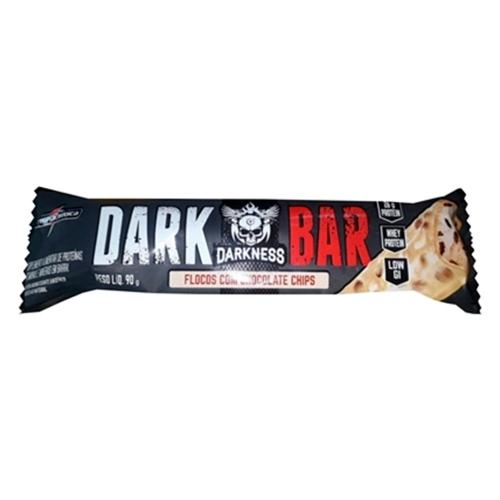 Whey Bar Darkness Sabor Flocos c/ Chocolate Chip (1 Unidade de 90g) - Integralmédica