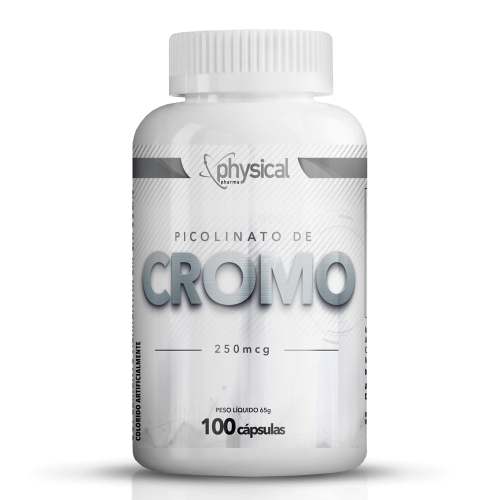 Picolinato de Cromo 250mcg (100 Cápsulas) - Physical Pharma