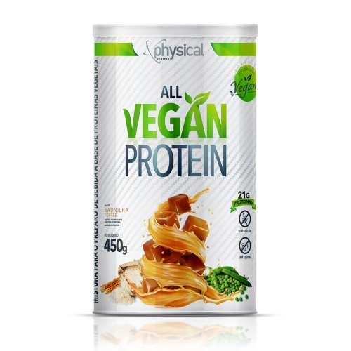All Vegan Protein Sabor Baunilha Toffee (450g) - Physical Pharma