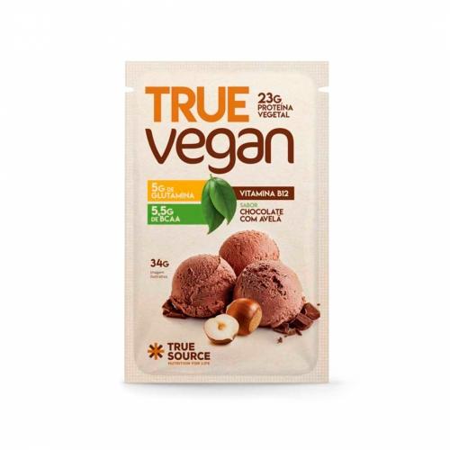 True Vegan sabor Chocolate c/ Avelã (1 sachê de 34g) - True Source
