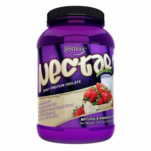 Nectar Whey Protein Isolado Natural Morango Cream (907g) - Syntrax